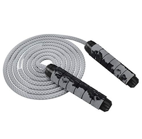 Odosalii Springseil Verstellbare Speed Rope Komfortablen Griffen Seilspringen Bunten Holzgriff Baumwolle Seil für Fitness Training Abnehmen für Kinder und Erwachsene