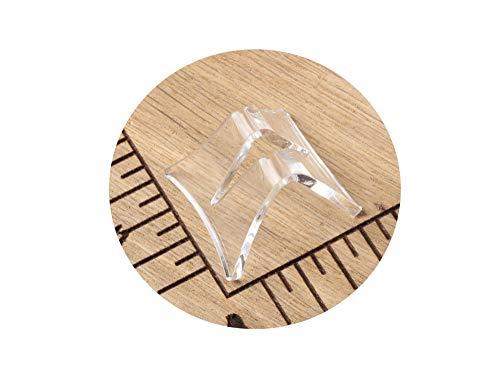 6 Stück Universelle transparente stylisch geschwungene Acryl Messerständer für Taschenmesser Jagdmesser Klappmesser Anglermesser usw. Der perfekte Messerhalter für viele unterschiedliche Messer.