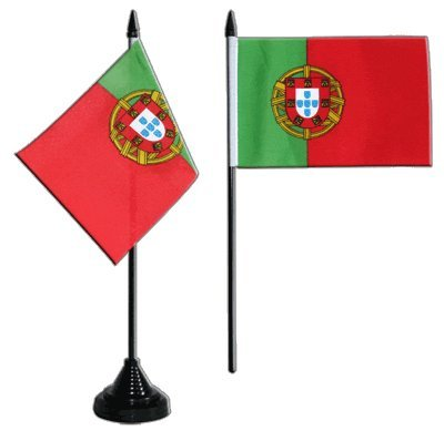 Flaggenfritze Tischflagge/Tischfahne Portugal + gratis Aufkleber