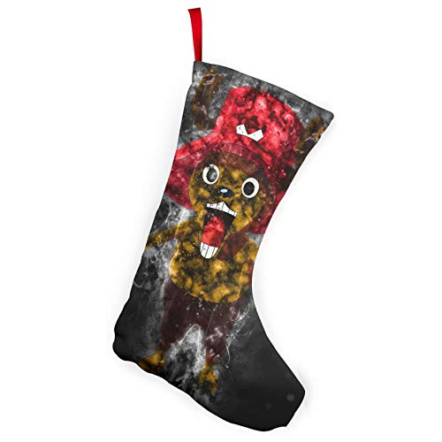 REECECAM Tony Tony Chopper Christmas Stockings In 2 Packs, Suitable For Family 10-Inch Brushed Fabric Decorations, Used For Fireplace Holiday Parties