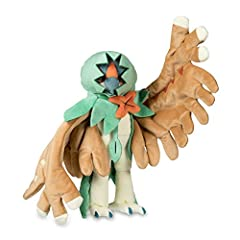 With posable feathery arms, a distinctive notched cowl and plenty of embroidered details, this Decidueye plush is amazingly impressive and stands fully 9 inches tall—with a 12 inch wingspan!