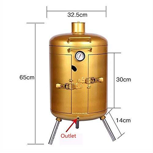 41PeS139P9L. SL500  - MNSSRN Umweltfreundlicher rauchloser Grill, hängender Herd, Luxusgrill Holzkohle Holzkohle Grilling, kleines kleines Brühbrising, freistehender Grill
