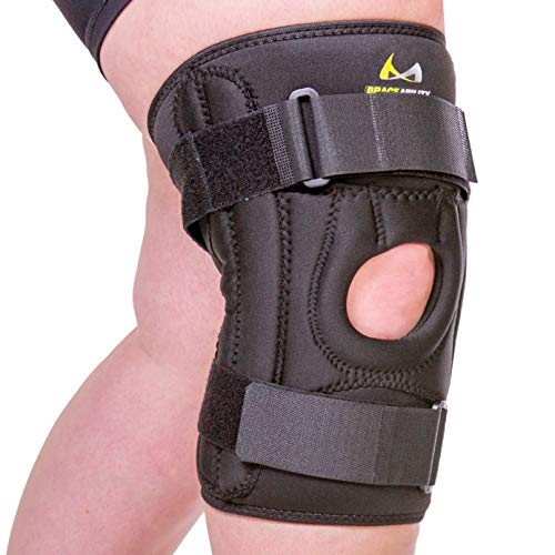 BraceAbility Patella Stabilizing Chondromalacia Knee Brace - XXXL Patellar Tendonitis U-Shaped Support to Protect Under Kneecap, Patellofemoral Pain Syndrome, Knock Knees and Bow Legs Treatment (3XL)