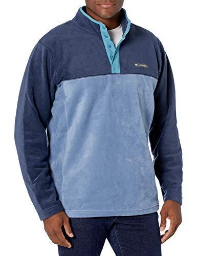 Columbia Steens Mountain Half Snap Suéter pulóver, Abeto/Tomillo Verde/Tono Aqua, XXL para Hombre