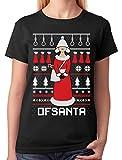 Tstars - Santa's Handmaid Ofsanta Funny Ugly Christmas Women T-Shirt XXX-Large...