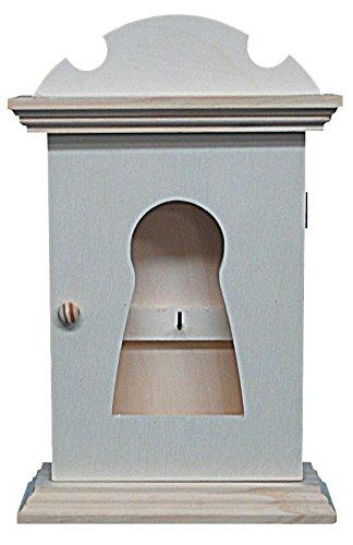 Sleutelhanger van hout. Met slot aan de binnenkant van de deur met afdelingen voor sleutels, hout, voor decoratie. Buitenafmetingen (B x D x H): 19 x 7 x 29 cm.