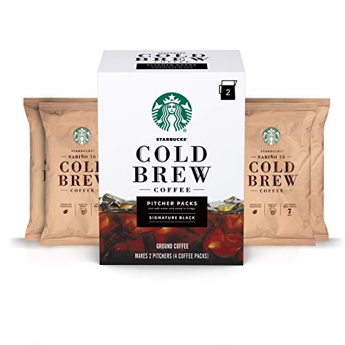 Starbucks Cold Brew Coffee | Signature Black Pitcher Packs | 3 Boxes (Makes 6 Pitchers Total)