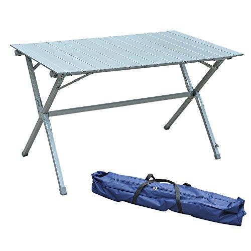 Mesa Plegable Camping 115x70x70cm Mesa Aluminio + Bolsa Transporte