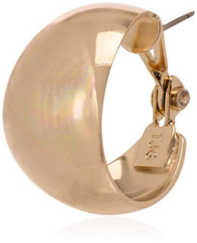 Anne Klein Classics Gold-Tone Band Hoop Earrings