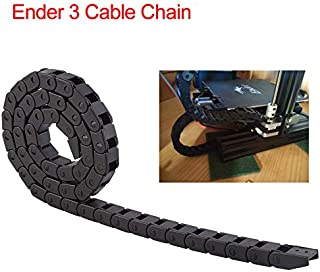 CCTREE Cable Drag Chain Wire Carrie 10mmx10mm Black Nylon Drag Chain Cable Carrier for Creality Ender 3 3D Printer or CNC Router Machine