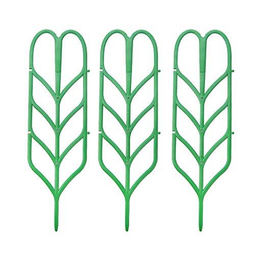 Jingdu, 3 unidades de enrejado para plantas en maceta, soporte de hoja en forma de hojas, mini plantas trepadoras, flores, verduras, rosa, vid, guisante, hiedra, pepinos, macetas de apoyo