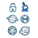 6pcs Onsinic/set Super Hero serie The Avengers Alliance Zucchero Cookie Cutter Mold fustelle Per gli accessori da cucina