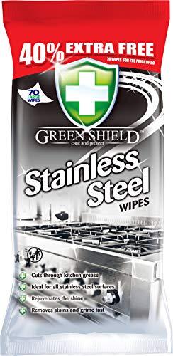 Greenshield Toallitas de acero inoxidable, 70 hojas extra grandes