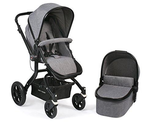 CHIC 4 BABY 173 32 Kombi-Kinderwagen Tano, Jeans, grau