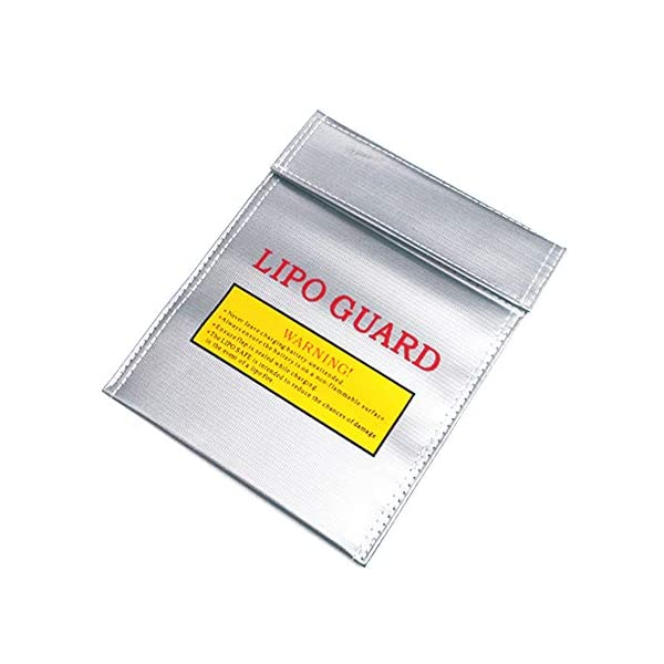 Youdepot Lipo Safe Bag Fireproof Lipo Guard Sleeve Sack Large Size Explosion-Proof Safety Pouch for Charge and Storage - 11.5in x 9in