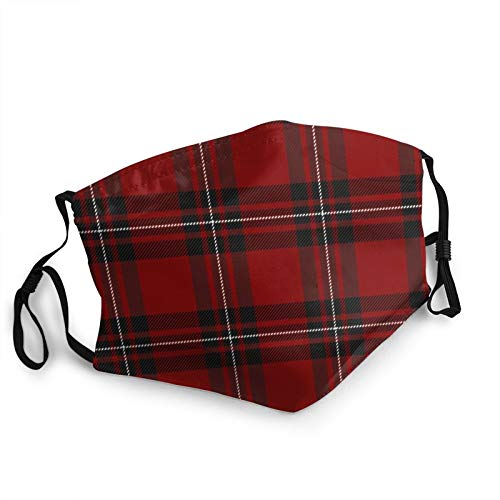 ZVEZVI Mac Gregor Tartan Scottish Cage Plaid Face Bandana Adult Face Mask Cloth Breathable,Washable And Reusable Earloop Bandana