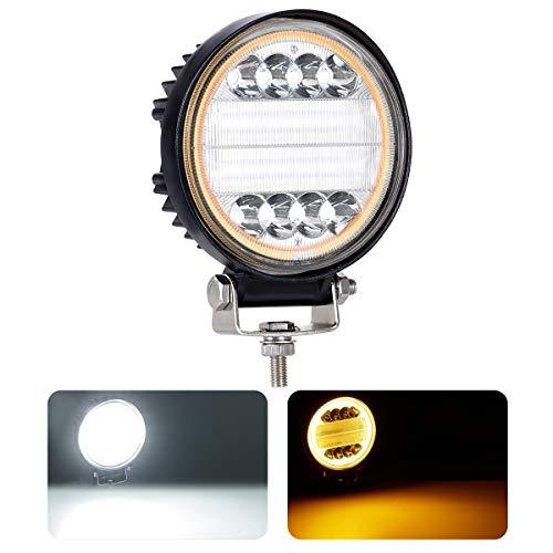 HAWEE 30W Luz de Trabajo LED Luz de Ojo de ángel Faros LED Luz combinada de Punto Luz de inundación LED Luz de Niebla Luces de conducción para Off Road 4x4 SUV UTV Pesado Camión Tractor de Camiones