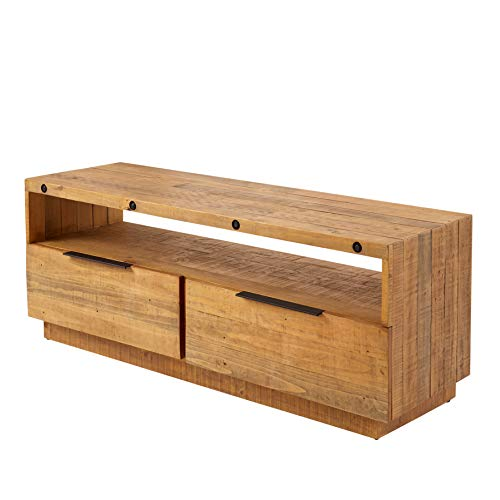 riess-ambiente.de Massives TV-Lowboard FINCA 150cm Natur Pinienholz Industrial Design Sideboard TV-Regal TV-Tisch Fernsehrregal Fernsehrtisch