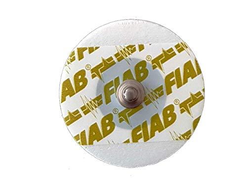 Fiab 33370 Elettrodi ECG Monouso Universali, Forma Rotonda, 1 Confezione da 50 Elettrodi, Foam-Pediatrici, Ø 40 mm