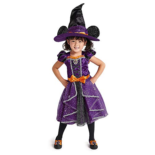 Disney Disfraz de Bruja de Minnie Mouse nios, Multicolor, 4