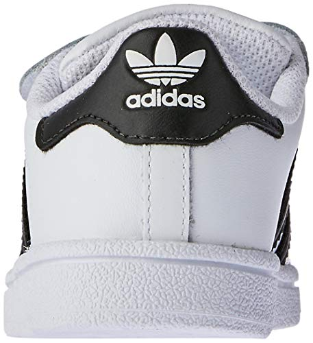 adidas Unisex-Kinder Superstar Fitnessschuhe, Weiß (Ftwbla/Negbas 000), 23 EU
