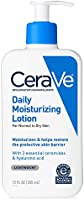CeraVe - Daily Moisturizing Lotion with Hyaluronic Acid and Ceramides for Normal to Dry Skin - 12 oz - 355ml