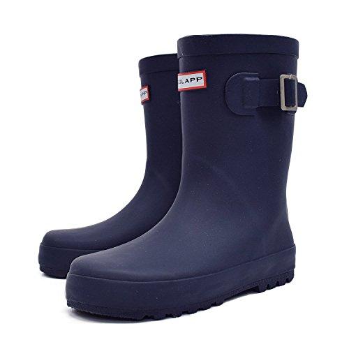 [グリップグラップ] キッズ ベビー レインブーツ 子供 長靴 rio40900 (19.0cm, ネイビー)