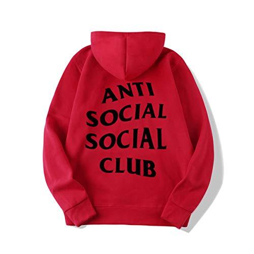 Unisex Männer Frauen Hüfte Pop Pulli Mit Kapuze Sweatshirt Sport Mantel Jacke Mädchen Anti Social Club Hoodie