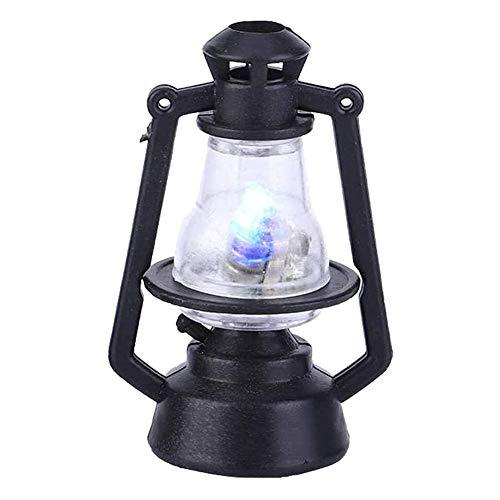 Nicejoy Casa de Muñecas Accesorios, Muebles Casa de Muñecas, Linterna Muñeca Casa Lámpara de Aceite LED Miniatura Mini Mini Luz Plástico Accesorios Vintage Modelo de simulación Juguete