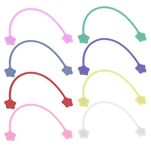 Enrollador de línea magnética, de silicona, liviano, en 8 colores diferentes, para teléfono, auricular, cable, paquete, cable para pizarra blanca/tabla de hierro, clip magnético,