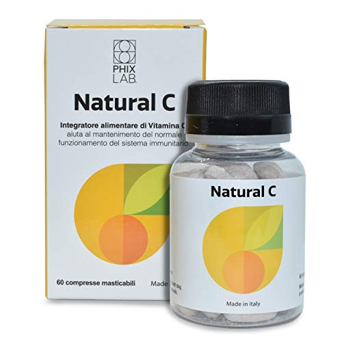 Phixlab Natural C - Vitamina C Naturale 500mg per 60 Compresse Masticabili