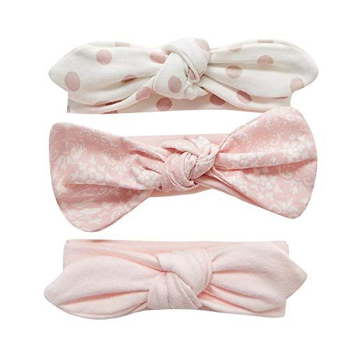 Adorel Baby Mädchen Haarband Schleife Elastisch 3er-Pack Blumen 3-24 Monate