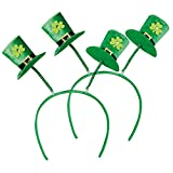 com-four Leprechaun, Disfraces de Kobold Día de San Patricio - atuendos Accesorios Festival, irlandés - Mardi Gras, Shrovetide, Carnival, Parade, Motto Party, Irish Pub (02 Piezas - Set 11)
