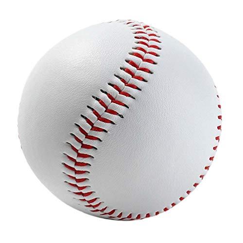 Lioobo Pacote com 4 peças de bola de beisebol branca durável, não tóxica, feita à mão, 22,8 cm, para treinamento, esportes, prática ao ar livre