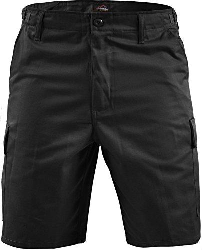normani Kurze Bermuda Shorts US Army Ranger Feldhose Arbeitshose S - XXXL Farbe Schwarz Größe L