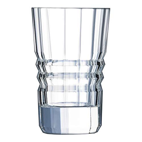 Cristal D'arques, Vaso Tequilero Shot Glass 60ml 2Oz, Modelo Architecte 7.8x4.5cm, Hecho en Francia. Set de 6 Caballitos