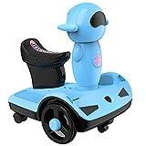 XYZLEO Hoverboard NiñOs Hoverboards Ajustable LED Luz Colorida Acelerador De SimulacióN Patin Electrico Resistente Al Desgaste Amortiguador Hoverboards Mudo Estable Hoverkart,Azul