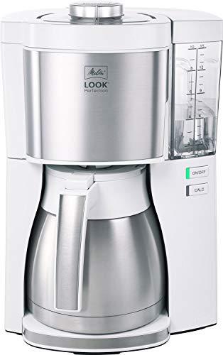 Kaffeemaschine Look V Perfection von Melitta, AromaSelector, 1.25 Liter, weiß, mit Thermoskanne, voller Kaffeegenuss