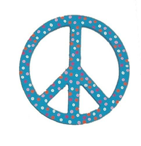 CUSTOM HAND Max 84% OFF PAINTED WOODEN AQUA BLUE DOT R KIDS POLKA Max 56% OFF SIGN PEACE