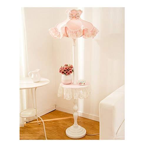 Staande lamp in Europese stijl woonkamer vloerlamp stof rack salontafel meisjes-kinder-slaapkamer-vloerlicht hoge staande lamp 147 cm