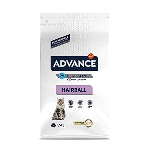 ADVANCE Hairball - Croquettes pour Chat Adulte avec Dinde - 1,5Kg