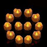 Candele LED, Candele Senza Fiamma a LED 12 pcs, Candele elettrica a...