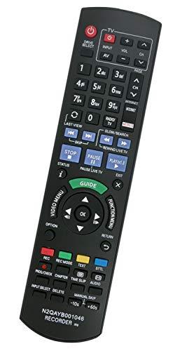 ALLIMITY N2QAYB001046 Fernbedienung Ersetzen für Panasonic DVD Recorder DMR-BCT755EG DMR-BCT850EG DMR-BCT855EG DMR-BCT950EG DMR-BST750EG DMR-BST755EG DMR-BST850EG DMR-BST855EG DMR-BST950EG