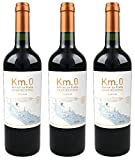Atlantik Weine, Weinpaket Km.0 Gran Reserva Tannat 2015, Rotwein aus Uruguay, Südamerika (3 x 0,75l)