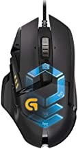 Logitech G502 Hero Engine Wired Gaming RGB Mouse 16000DPI Programmable Mice (Free, Black)