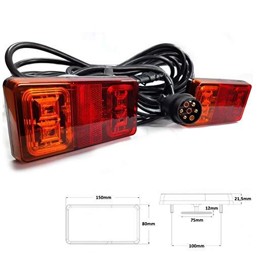 LED Rückleuchten Set 7 polig Magnet verkabelt 12V 24V PKW Anhänger Beleuchtung
