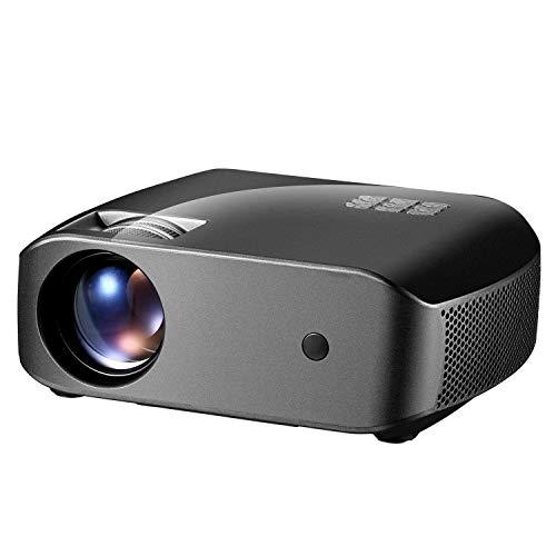 JVSISM Proiettore F10 Proiettore Portatile LED per Uso Domestico 2800 Lumen HD Supporto Home Theater 1080P (Spina Europea)