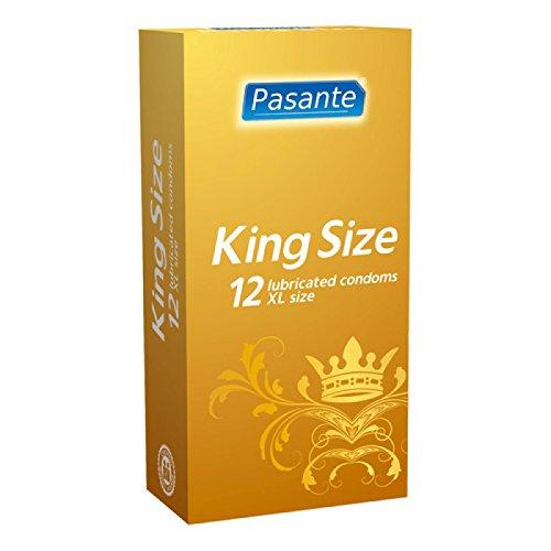 Pasante King Size, extra große Kondome mit 60mm Breite und 200mm Länge - ideal für Männer, die mehr Platz brauchen, 1 x 12 Stück