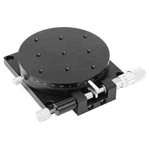Plataforma de desplazamiento manual Plataforma de recorte de φ90 mm para un desplazamiento de ajuste fino para un posicionamiento de precisión