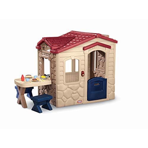 Little Tikes 170621E13 - Blockhütte mit Picknicktisch
